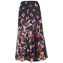 Buy Chesca Butterfly Border Skirt, Black Multi Online at johnlewis.com