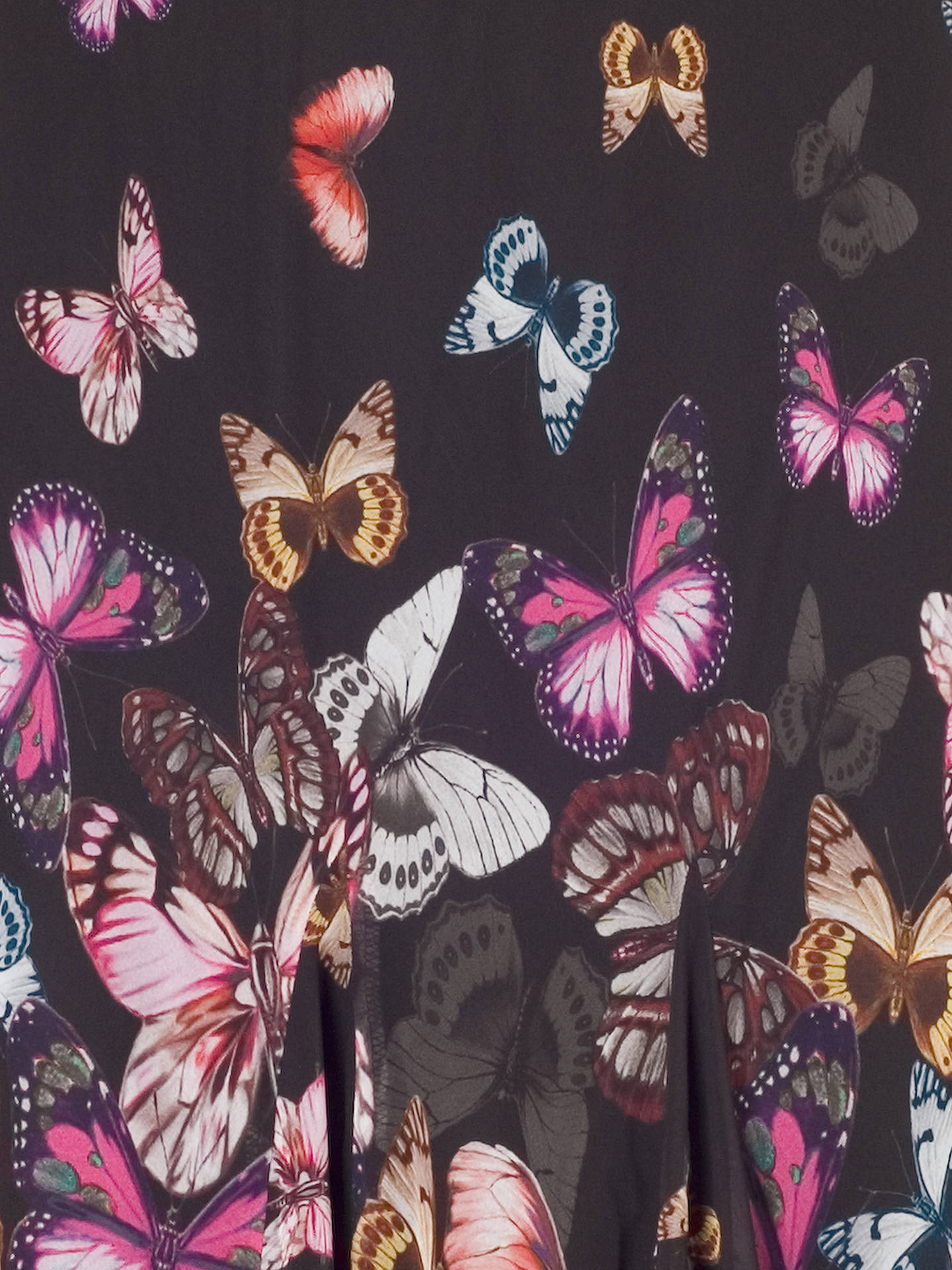 BuyChesca Butterfly Border Skirt, Black/Multi, 12 Online at johnlewis.com