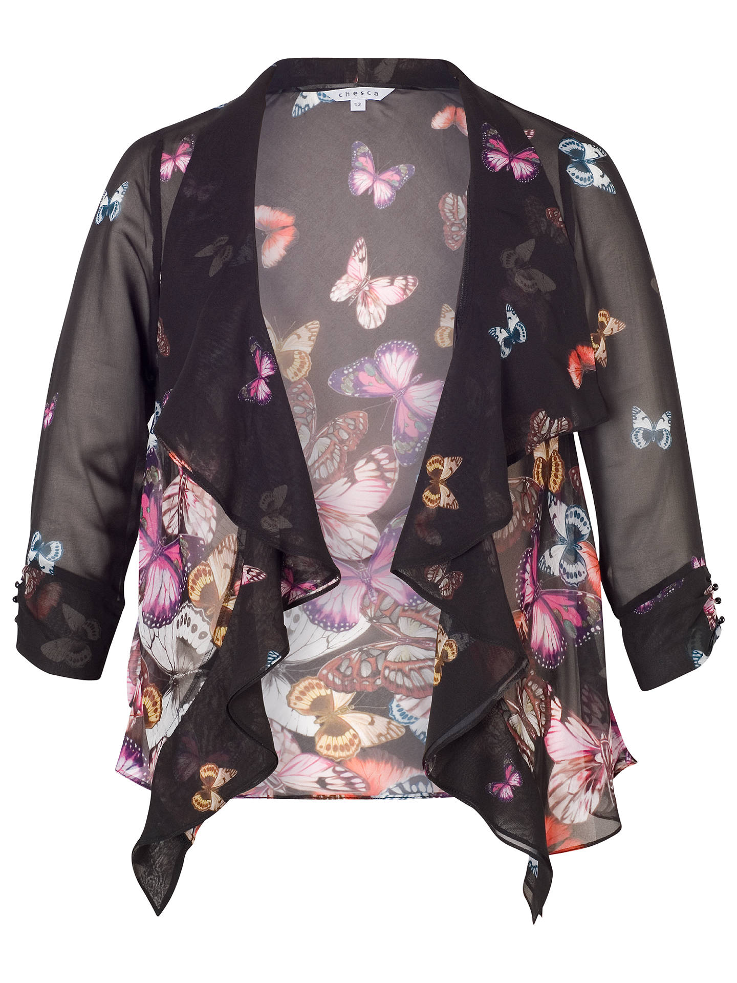 Buy Chesca Butterfly Border Shrug, Black/Multi, 12 Online at johnlewis.com