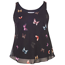 Buy Chesca Small Butterfly Print Camisole, Black/Multi Online at johnlewis.com