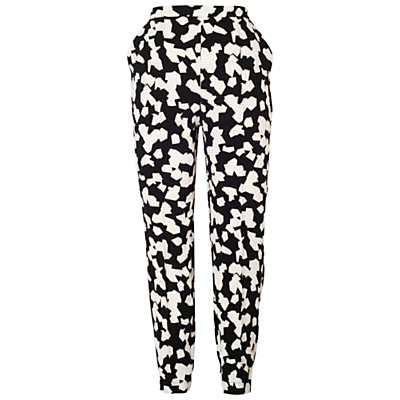 Chesca Abstract Print Trousers, Black/Ivory