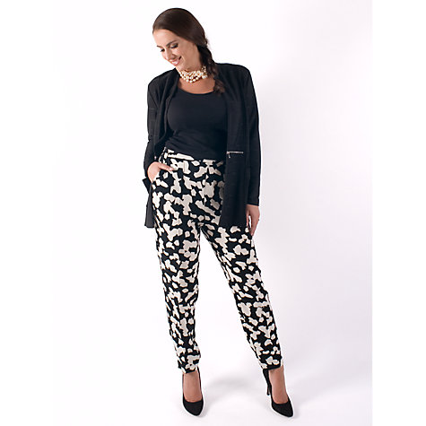 Buy Chesca Abstract Print Trousers, Black/Ivory Online at johnlewis.com
