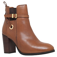 Buy Carvela Stacey Buckle Strap Ankle Boots, Tan Leather Online at johnlewis.com