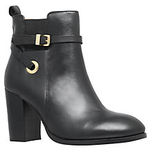 Buy Carvela Stacey Buckle Strap Ankle Boots, Black Leather Online at johnlewis.com