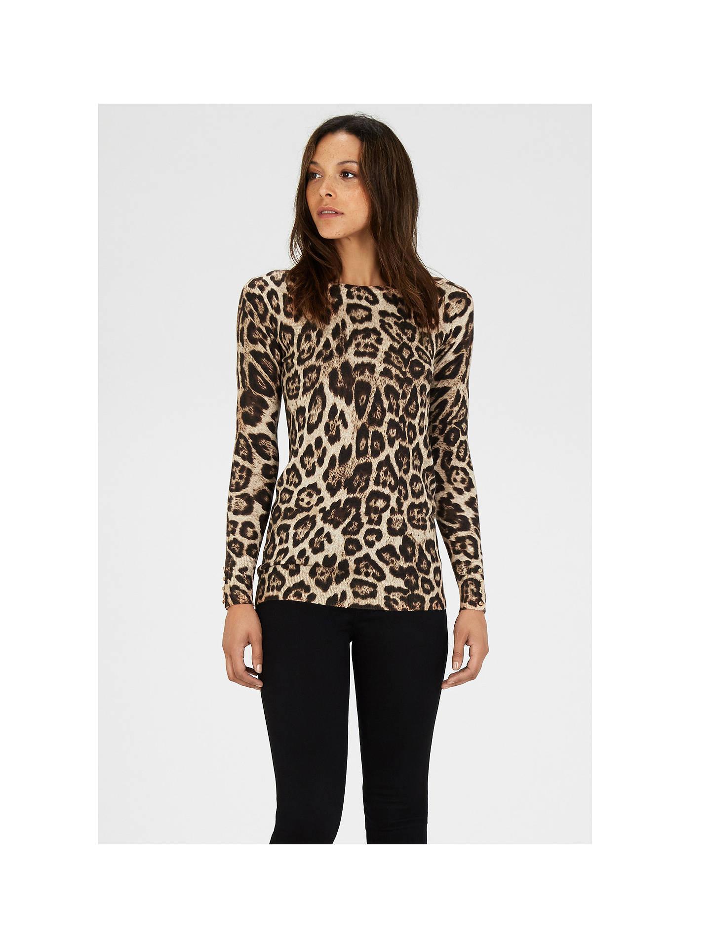 23af4250543b ... Buy Warehouse Leopard Print Jumper, Multi, 6 Online at johnlewis.com ...