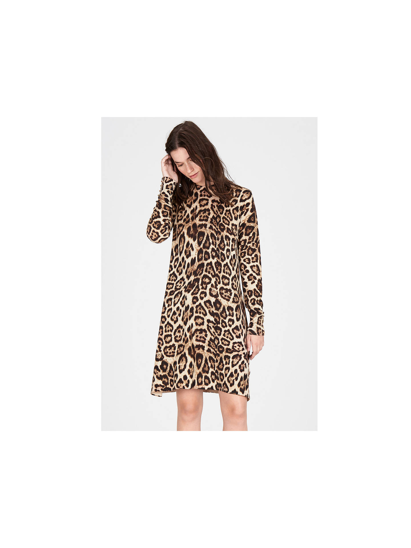 ... BuyWarehouse Animal Print Swing Dress 0a7a67094