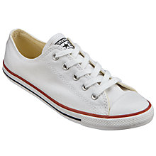 Buy Converse Dainty Seasonal Ox Trainers, White Online at johnlewis.com