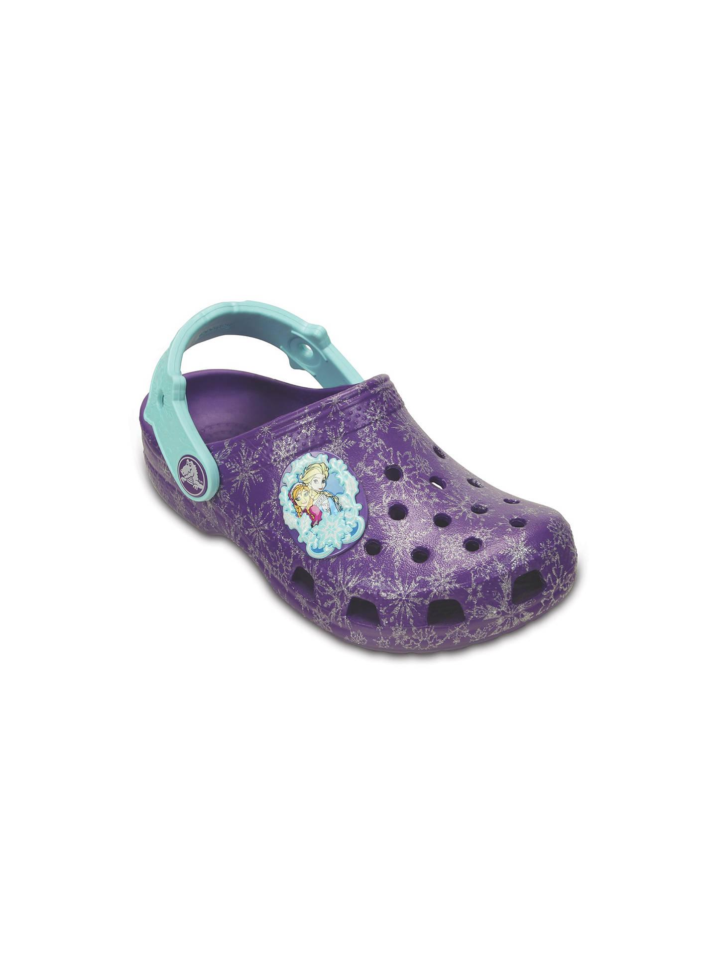 NEW Toddler Girls purple Disney/'s Frozen Anna//Elsa Crocs Clogs