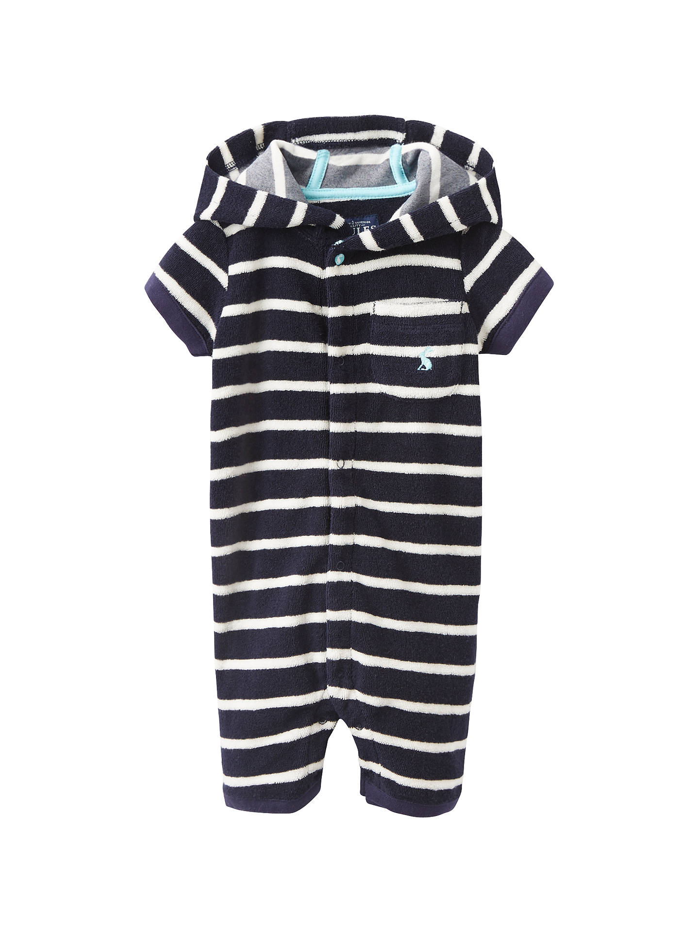 Joules Towelling Cover Up Navy Stripe