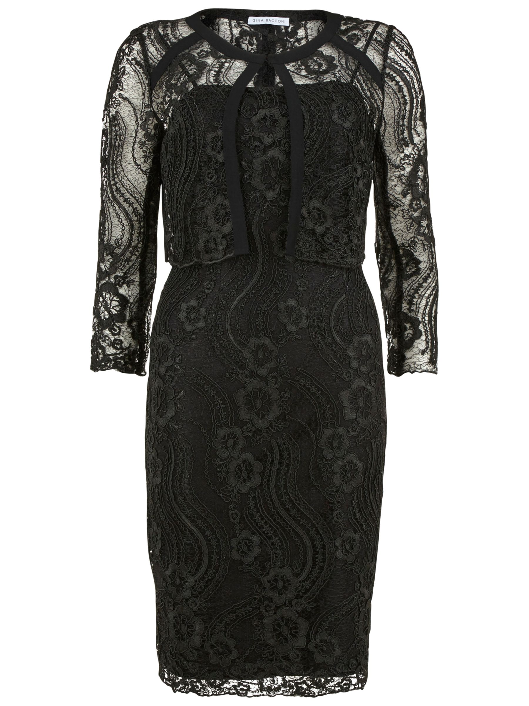 Gina Bacconi Embroidered Bodice Dress And Jacket Compare Bluewater Magenta Blazer