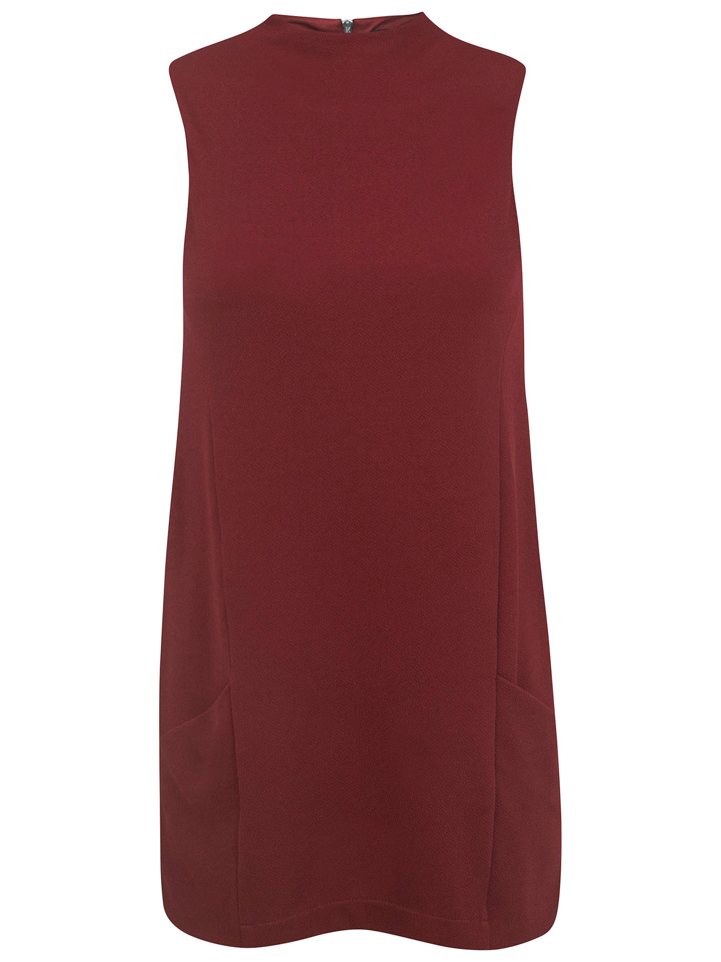 444968dbf2f Buy Oasis Double Pocket Tunic Dress, Burgundy, 6 Online at johnlewis.com ...