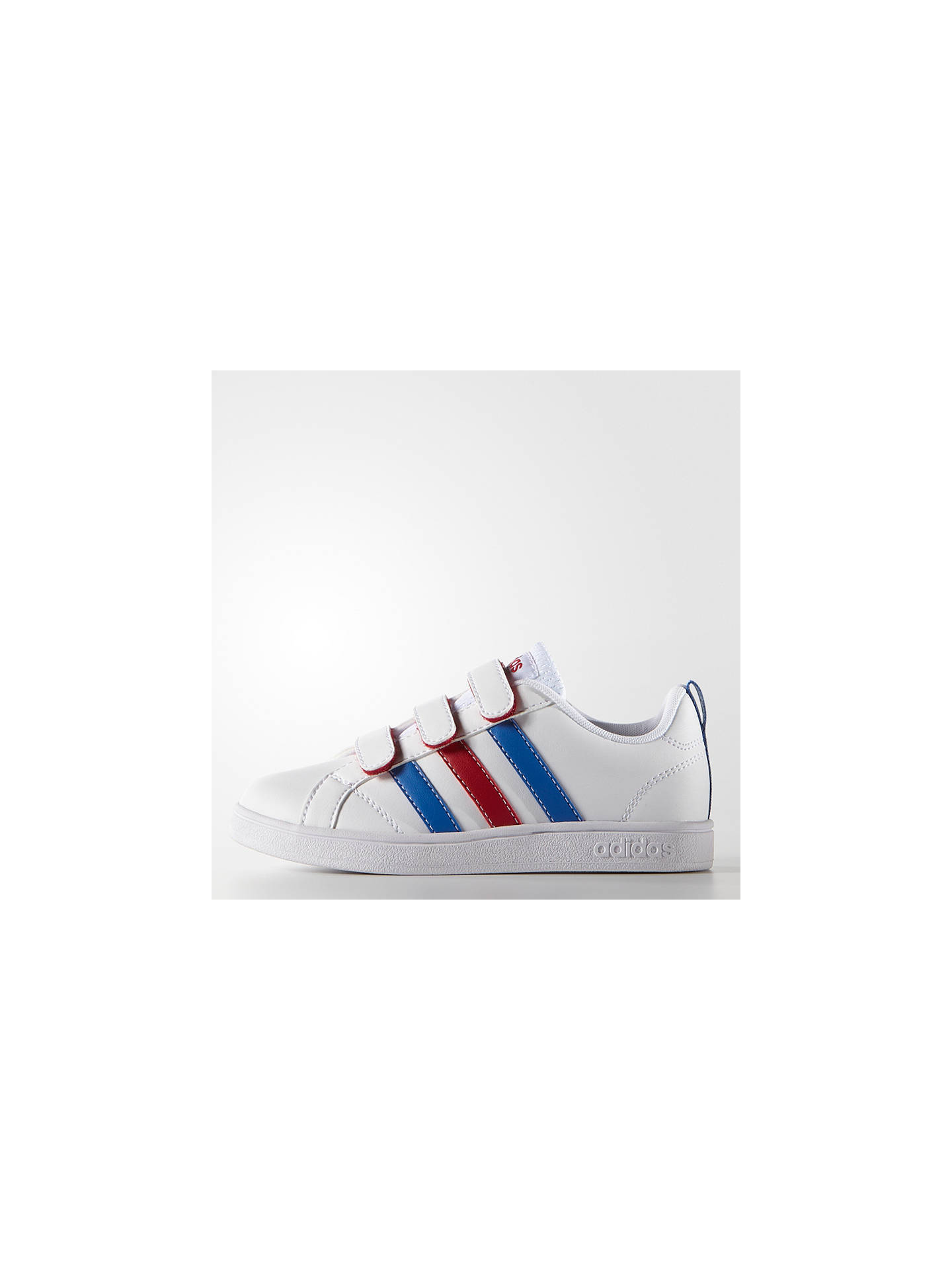 Buy Adidas Children's Advantage VS I Trainers, White/Red/Blue, 10 Jnr Online at johnlewis.com