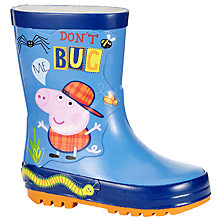 Buy Peppa Pig George Bug Wellington Boots, Red/Blue Online at johnlewis.com
