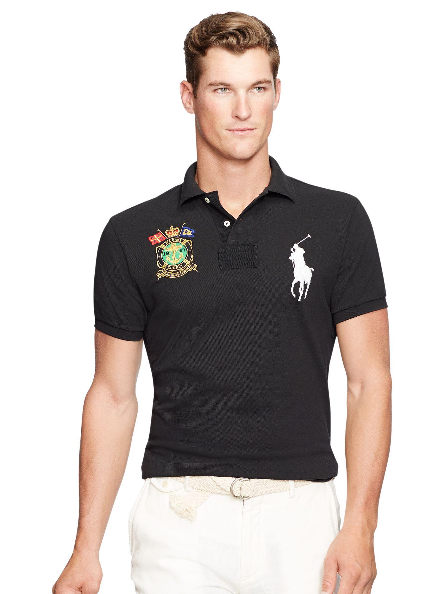 Polo Ralph Lauren Slim-Fit Big Pony Polo Shirt at John Lewis ...