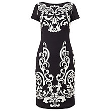Buy Phase Eight Erin Jacquard Dress, Black/Stone Online at johnlewis.com