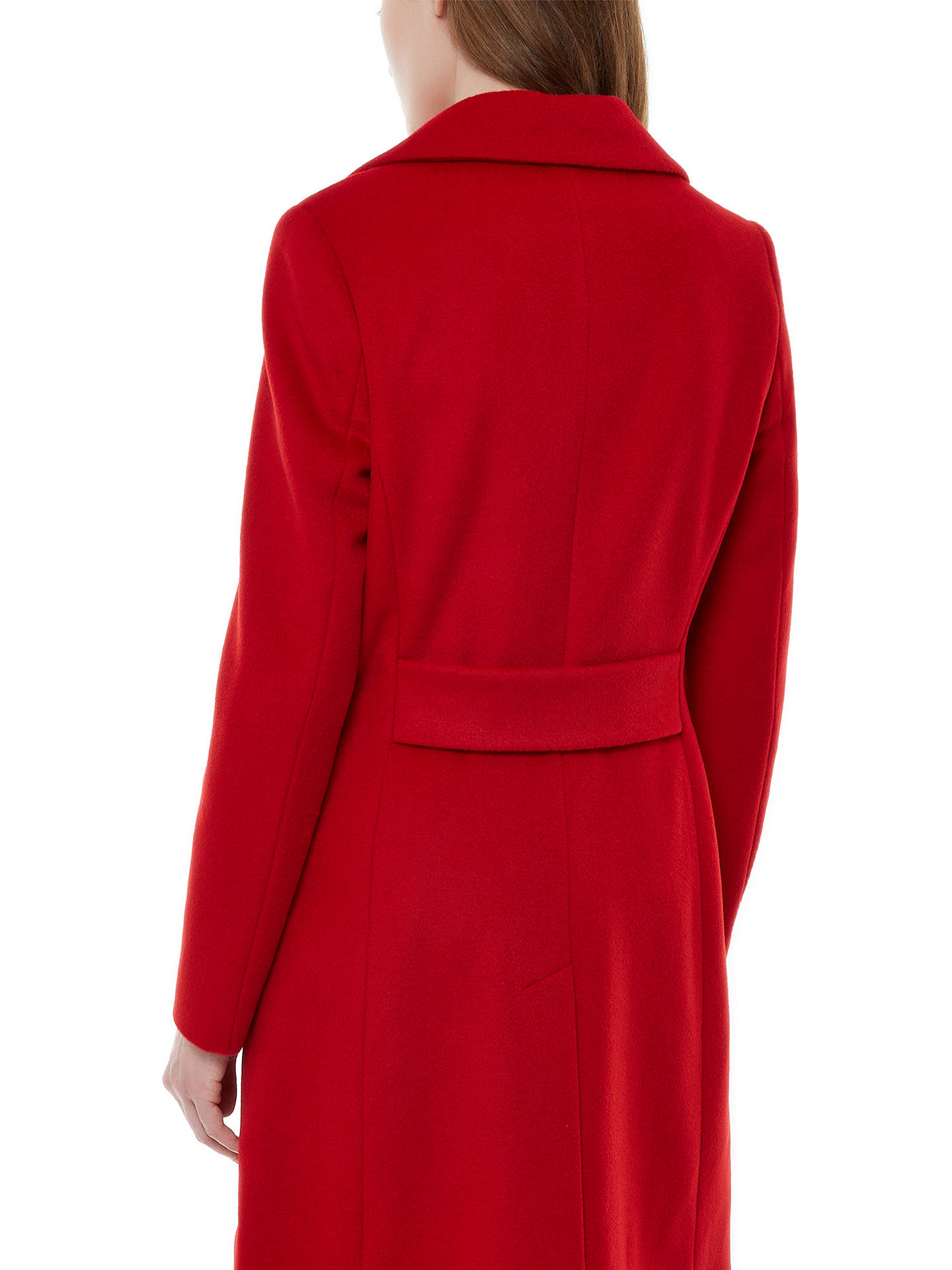 Buy Jaeger Three Button Wool Coat, Haute Red, 6 Online at johnlewis.com