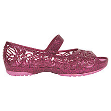 Buy Crocs Children's Isabella Glitter Flats Online at johnlewis.com