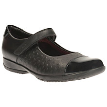 Buy Clarks Children's Friend Play Leather Rip-Tape School Shoes, Black Online at johnlewis.com