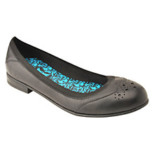 Buy Start-rite Angry Angels Children's Meg Leather Slip-On School Shoes, Black Online at johnlewis.com