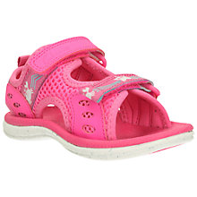 Buy Clarks Children's Star Games Rip-Tape Sandals, Pink Online at johnlewis.com