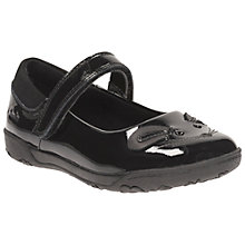Buy Clarks Children's Nibbles Bee Rip-Tape School Shoes, Black Online at johnlewis.com