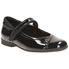Buy Clarks Children's Mary Jane School Shoes, Black Online at johnlewis.com