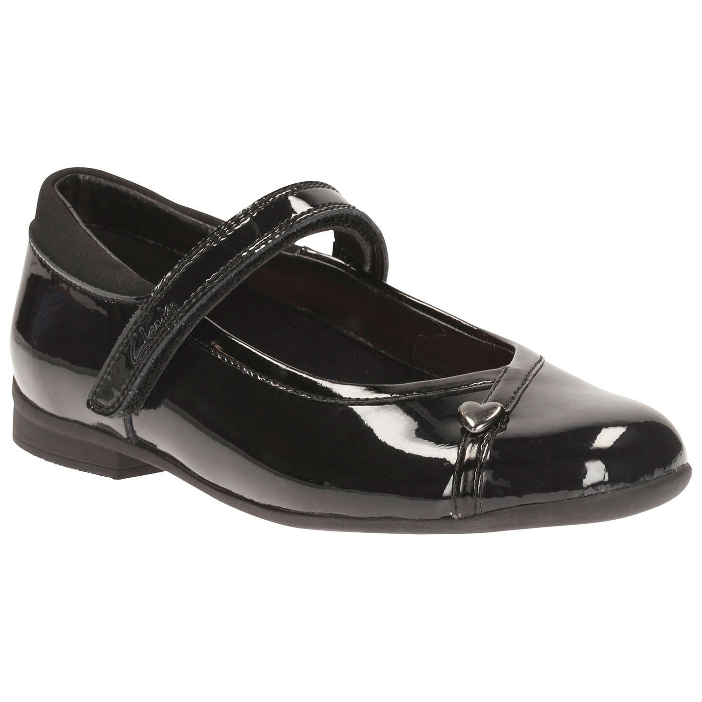 BuyClarks Children's Mary Jane School Shoes, Black, 10E Jnr Online at johnlewis.com