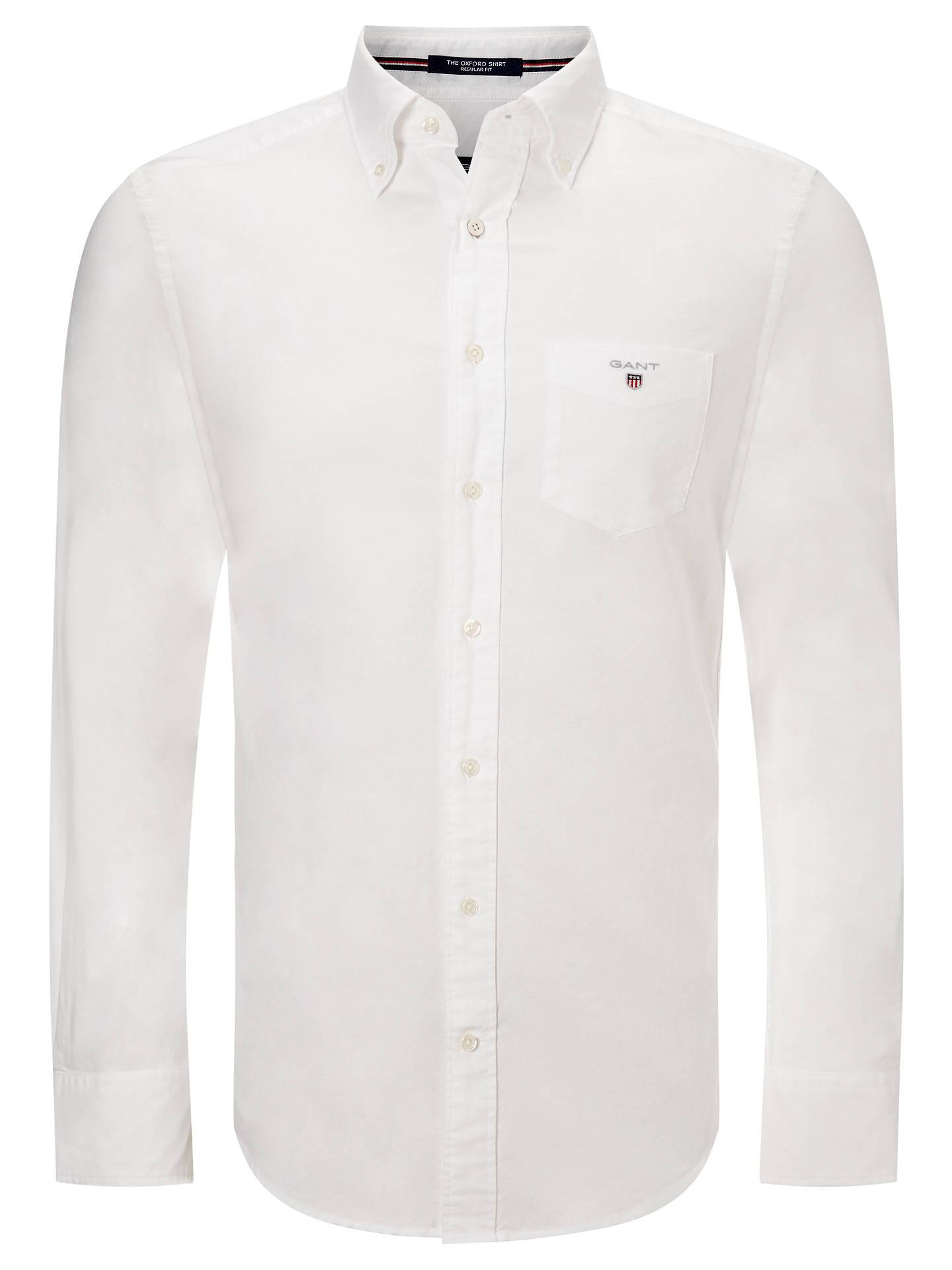 31da34039d Buy GANT Regular Fit Plain Oxford Shirt, White, S Online at johnlewis.com  ...