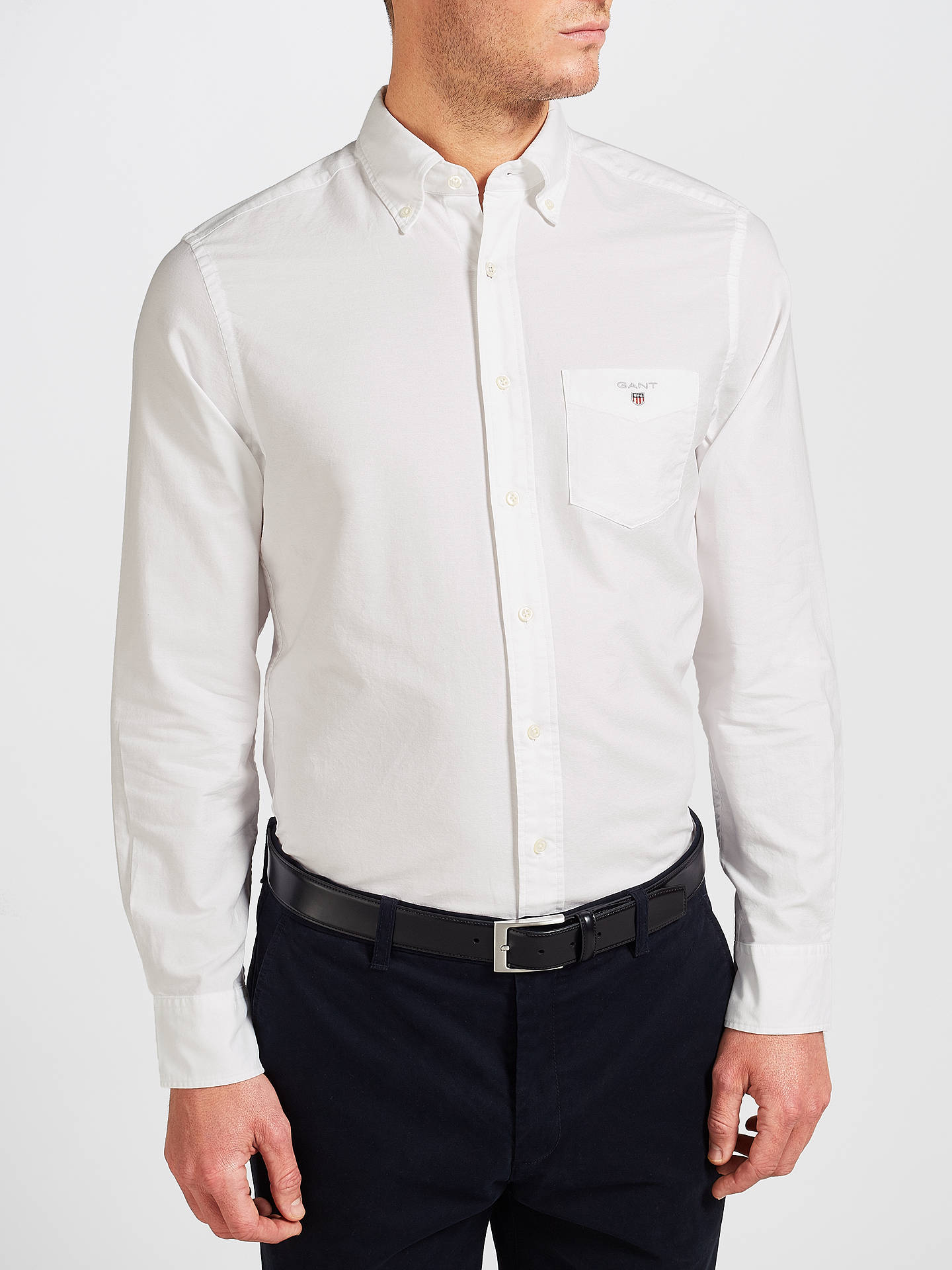 b4cbd05e2 GANT Regular Fit Plain Oxford Shirt, White
