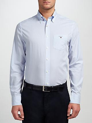 GANT Regular Fit Poplin Banker Stripe Shirt