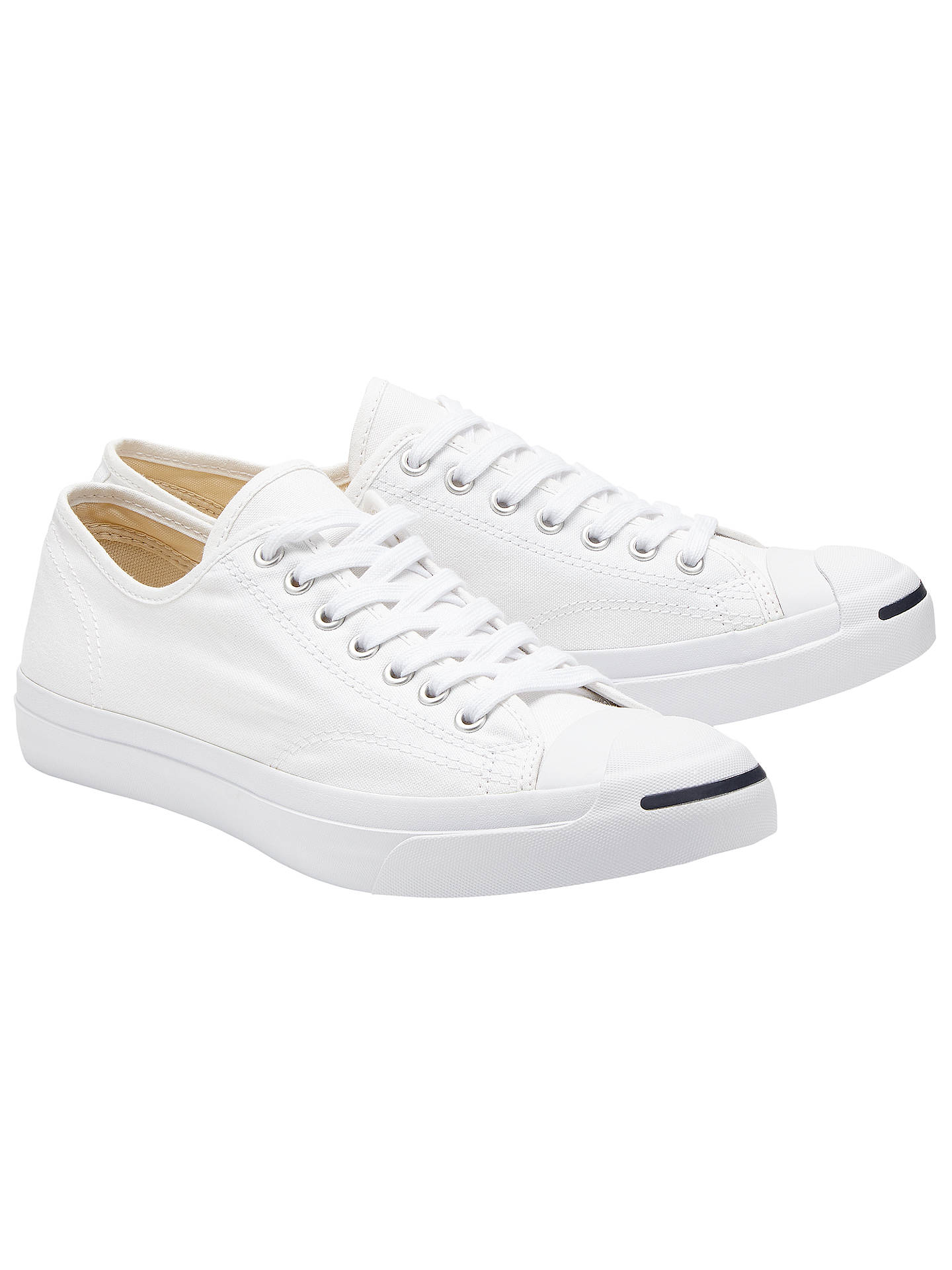 ab756ccb34d6 Converse Jack Purcell Lace-Up Canvas Trainers at John Lewis   Partners