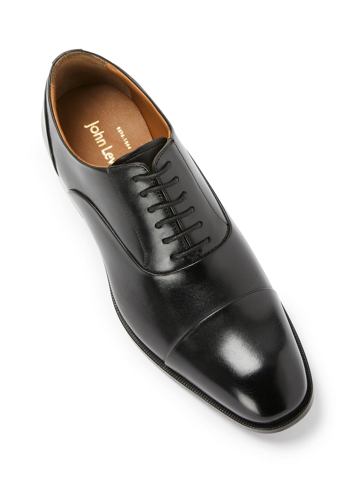 938ddb482 ... Buy John Lewis & Partners Goodwin Oxford Leather Lace-Up Shoes, Black,  7 ...