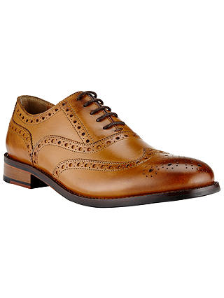Buy John Lewis & Partners Bentley Leather Lace-Up Brogues, Cognac, 7 Online at johnlewis.com