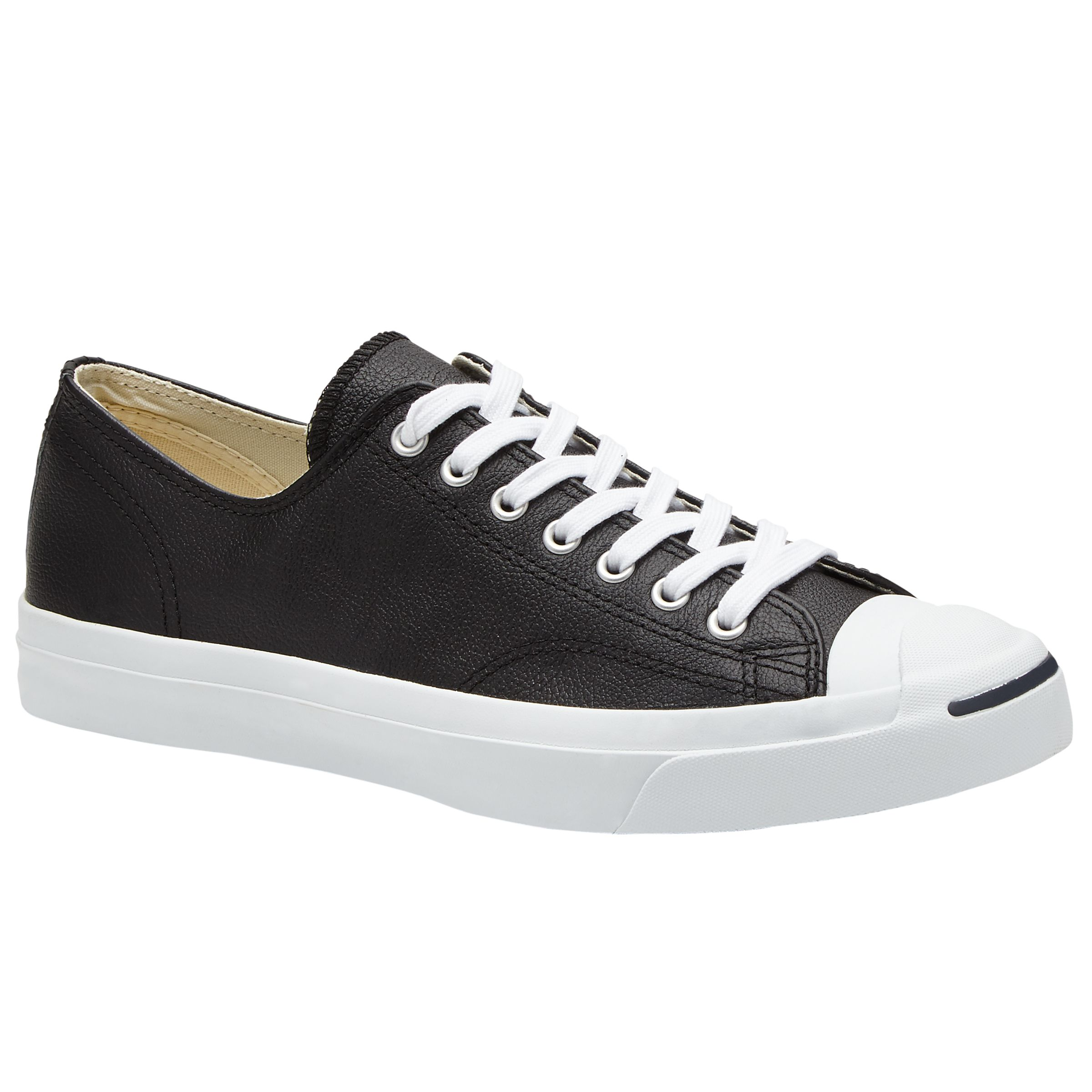04e783b10fd6bc Converse Jack Purcell Lace-Up Leather Trainers at John Lewis   Partners