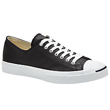 Buy Converse Jack Purcell Lace-Up Leather Trainers Online at johnlewis.com