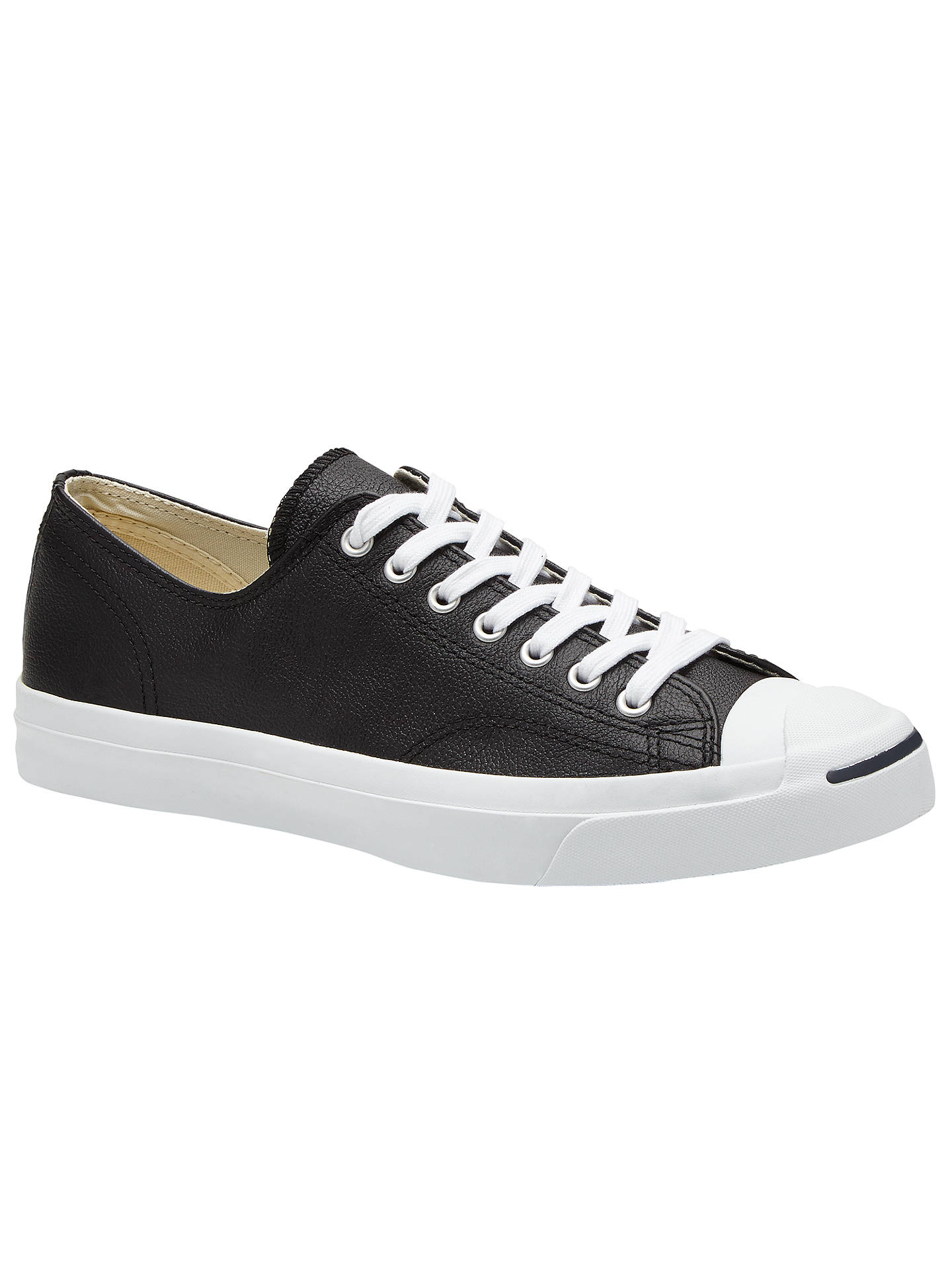 d09dc35e4215 Converse Jack Purcell Lace-Up Leather Trainers at John Lewis   Partners
