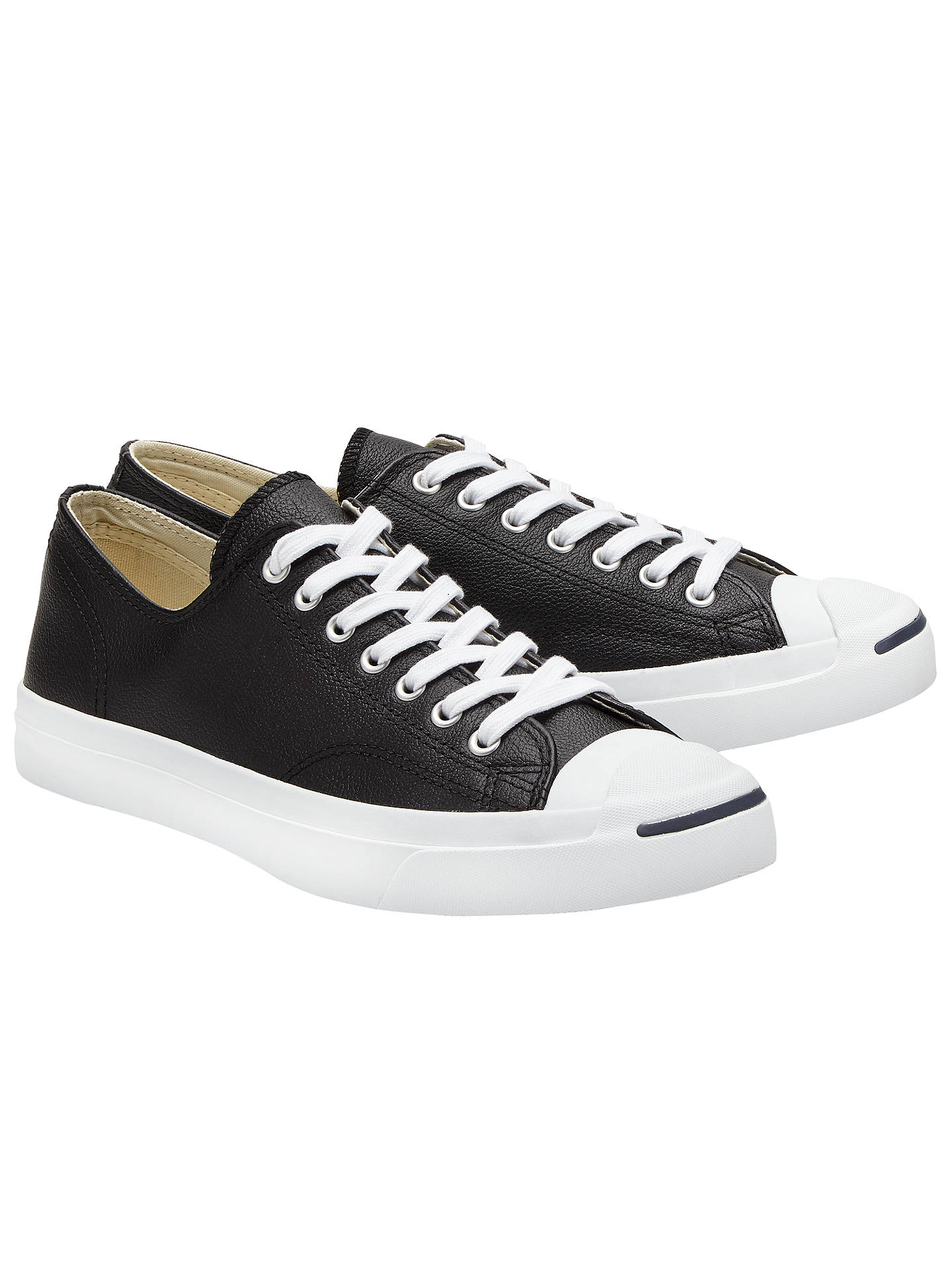 49092c5b7705 Converse Jack Purcell Lace-Up Leather Trainers at John Lewis   Partners
