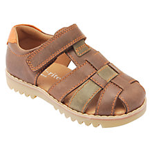 Buy Start-rite Children's Climb Leather Rip-Tape Sandals, Brown Online at johnlewis.com