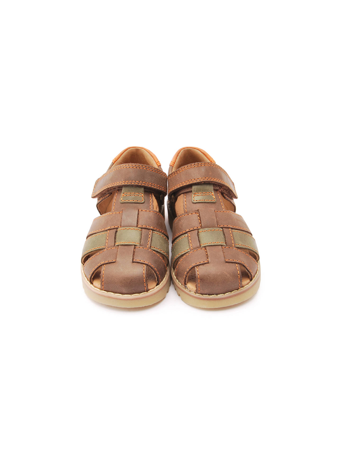 Buy Start-rite Children's Climb Leather Riptape Sandals, Brown, 20F Online at johnlewis.com