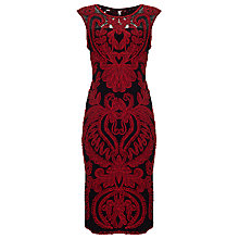 Buy Phase Eight Delaney Tapework Dress, Black/Paprika Online at johnlewis.com