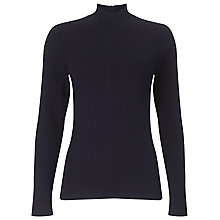 Buy Phase Eight Marlee Turtle Neck Jumper, Black Online at johnlewis.com