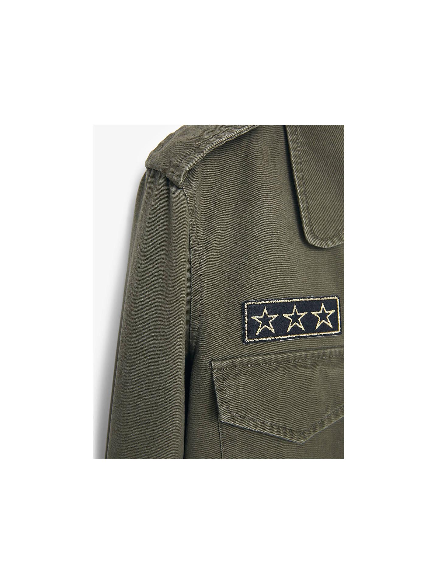 8aa262fe6 Mango Military Style Trench Coat, Khaki at John Lewis & Partners