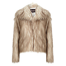 Buy Phase Eight Zola Faux Fur Jacket, Stone Online at johnlewis.com