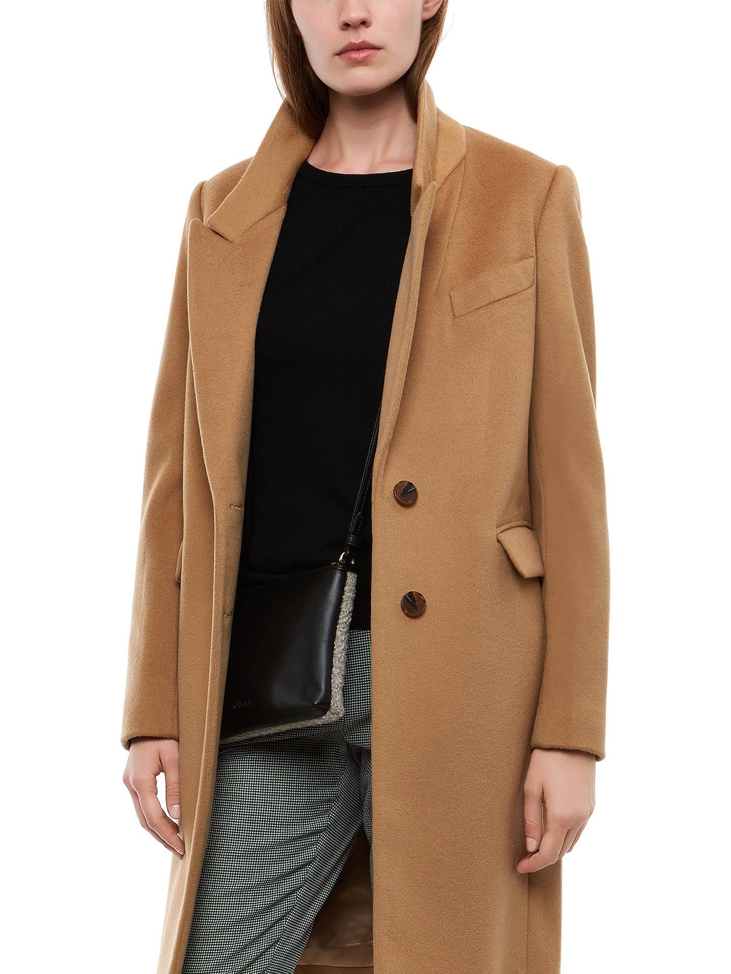 Jaeger Wool Cashmere Boyfriend Coat at John Lewis & Partners