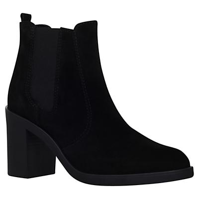 KG by Kurt Geiger Sicily High Heel Ankle Boots, Black Suede
