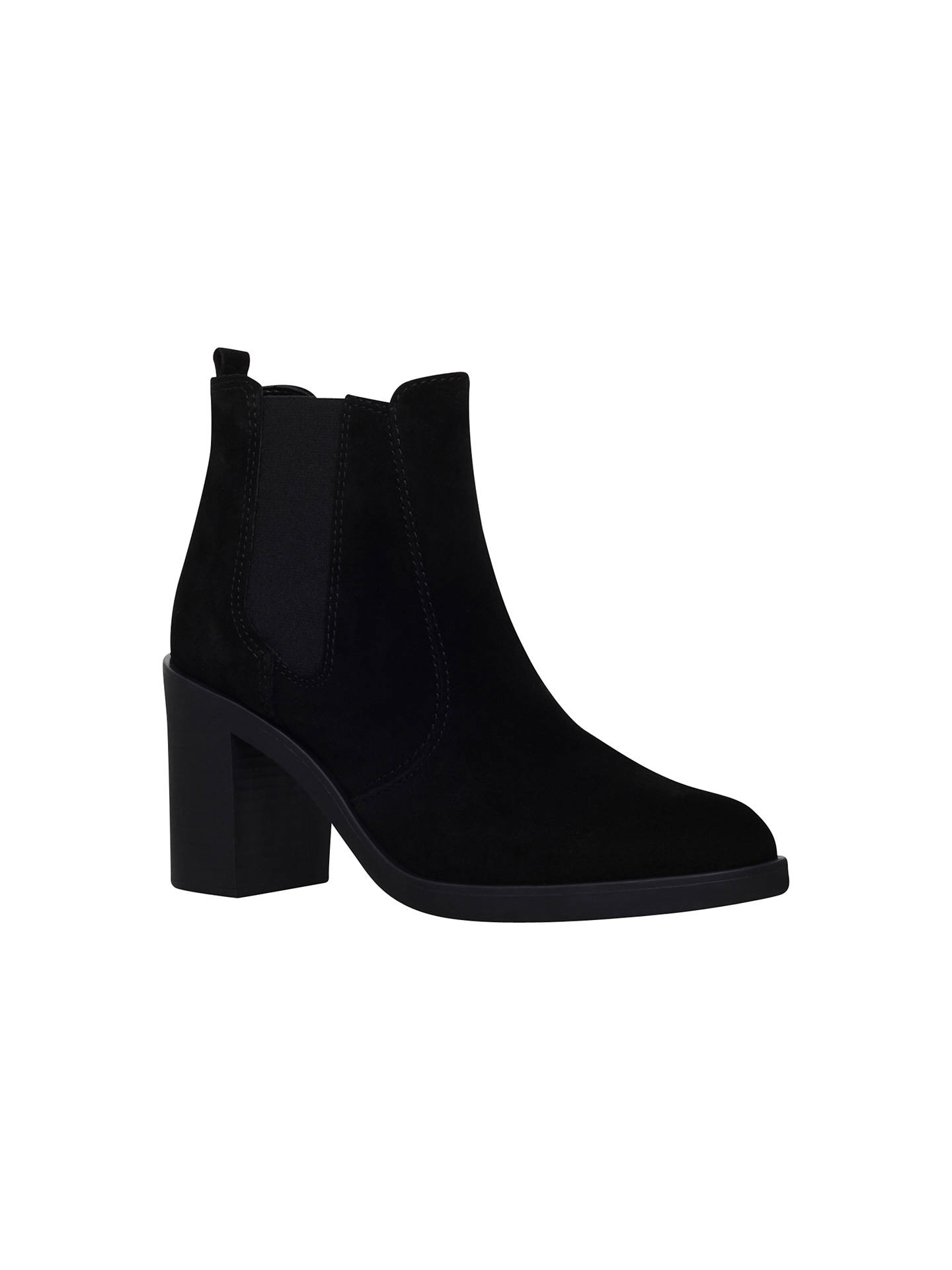 Buy KG Kurt Geiger Sicily High Heel Ankle Boots, Black Suede, 3 Online at johnlewis.com