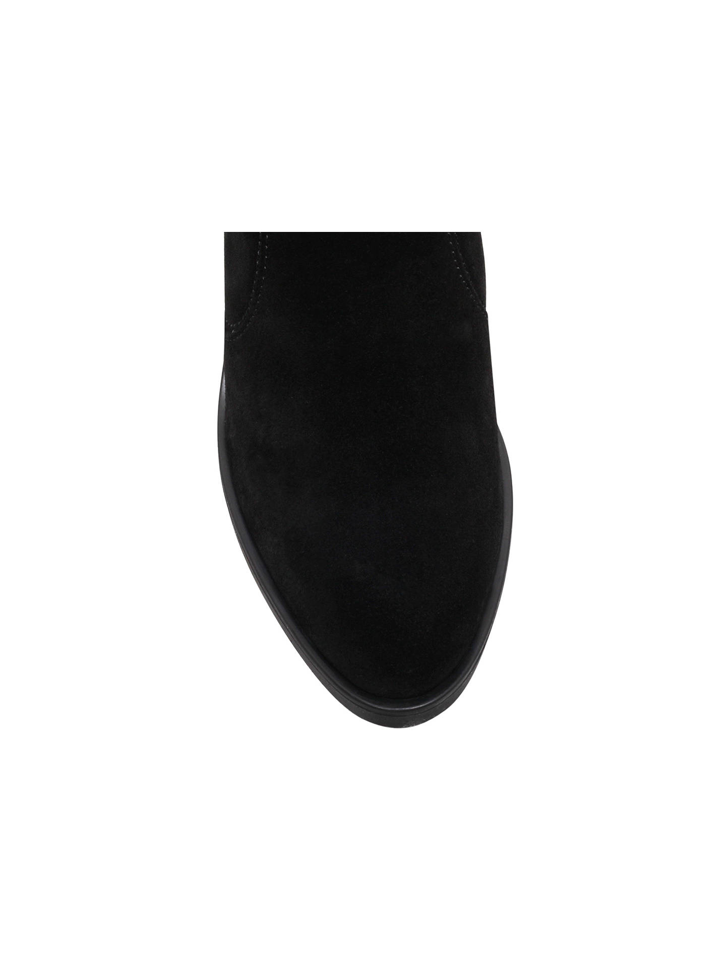 BuyKG Kurt Geiger Sicily High Heel Ankle Boots, Black Suede, 3 Online at johnlewis.com