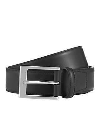 John Lewis & Partners Classic Leather Belt, Black