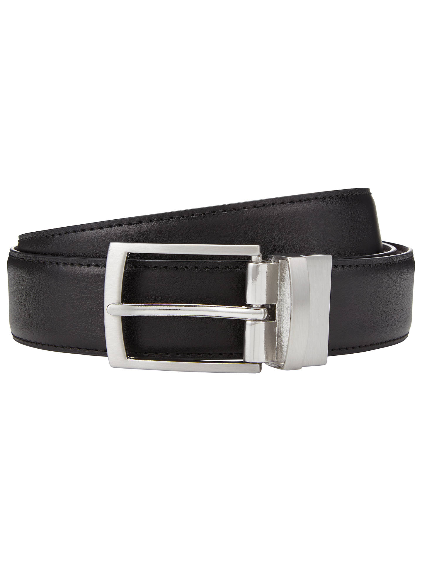 BuyJohn Lewis & Partners Reversible Leather Belt, Black/Brown, S Online at johnlewis.com