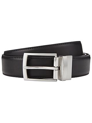 John Lewis & Partners Reversible Leather Belt, Black/Brown